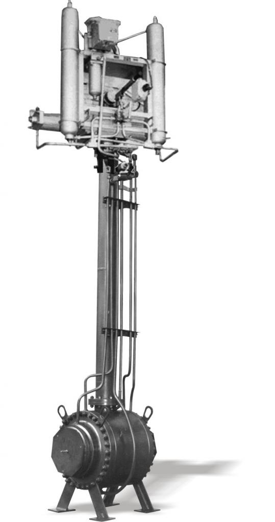 Кран шаровой DN 300 PN 8 МПа подземного исполнения