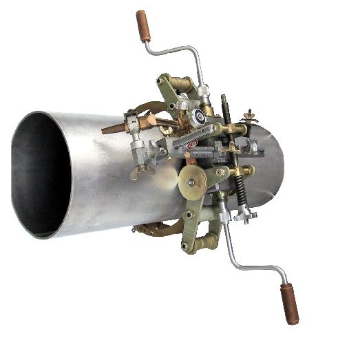 Машина для резки труб DN 400 — 1400 с ручным приводом «Комета» Предназначена для кольцевой резки труб магистральных газопроводов в полевых условиях
